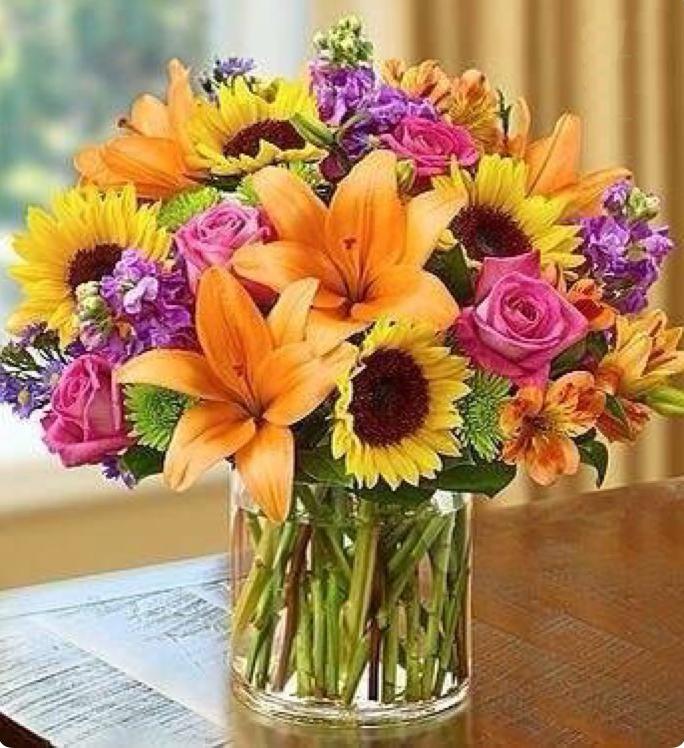 Ramo de flores variadas entrega en toda espa a - Ramos de flores grandes ...
